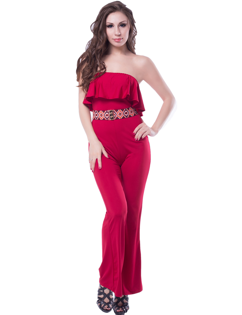 09761926e0a5 ... Ohyeah Elegant Jumpsuit Hot Sale Women Romper Two Colors Comfortable  Jumpsuits Loose - Pricearchive.org