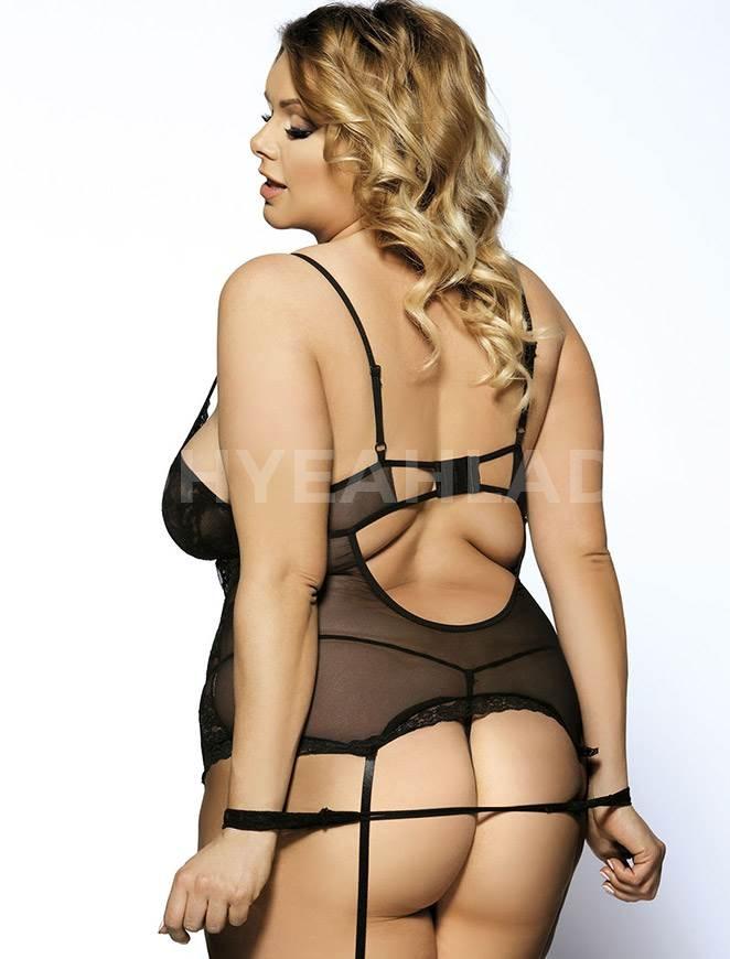 Plus sized black erotic lingerie sale